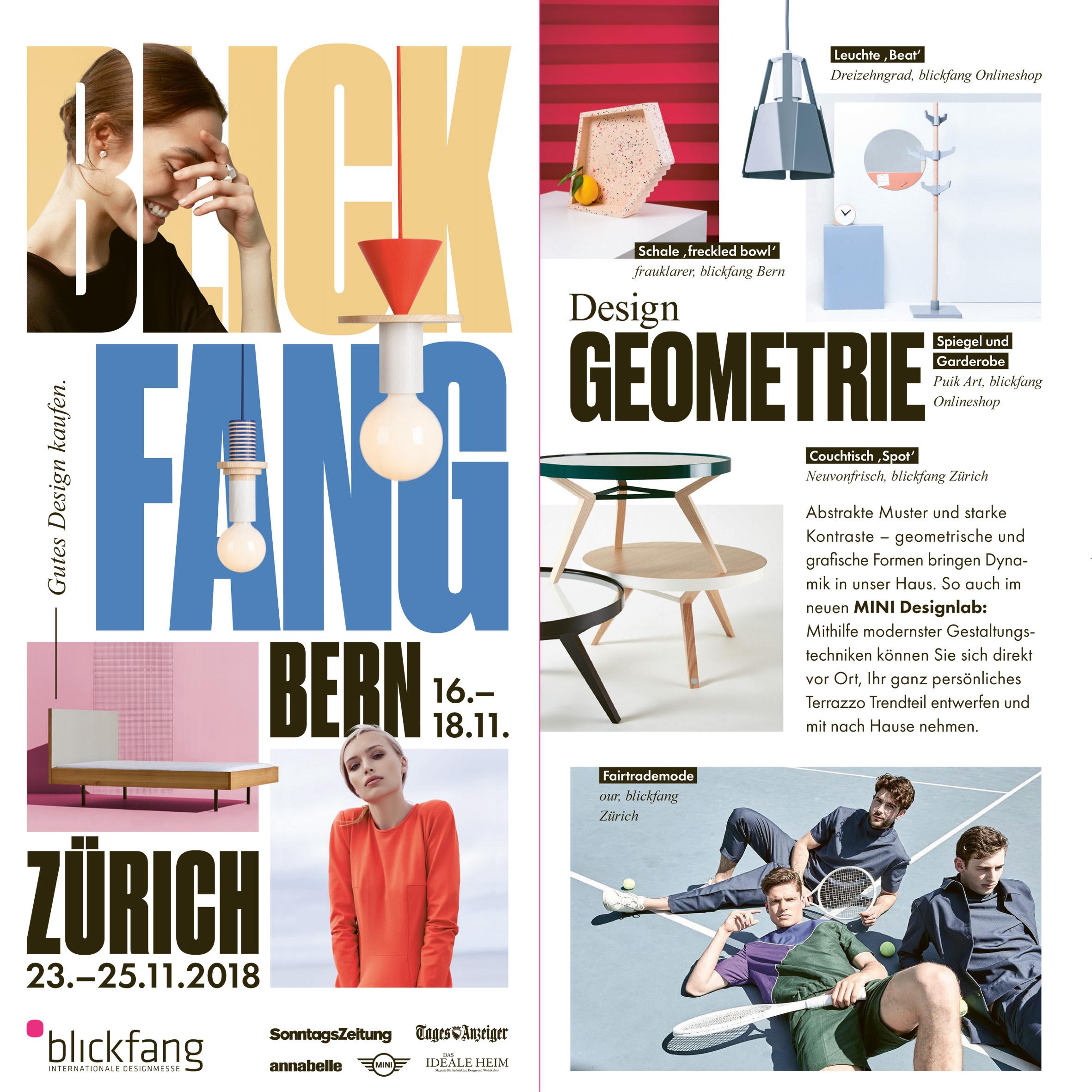 Blickfang – Zurich // 23.–25.Nov.2018